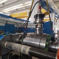"""API 6A Trunnion Mounted Ball Valve Side Entry Bolted Body 9"""" 10.000psi under torque testing"""