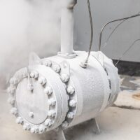 """API 6D Trunnion Mounted Ball Valve Side Entry Bolted Body 12"""" 600# after Cryogenic Testing"""