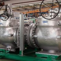 """API 6D Trunnion Mounted Ball Valve Top Entry 30"""" 600# installed on a Metering Skid"""