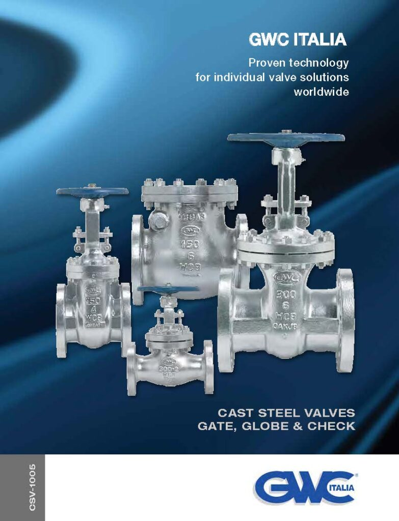 Catalogue Cast Steel Gate, Globe, Check Valves