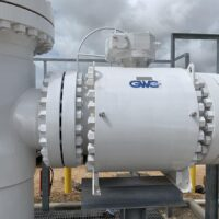 """API 6D Side Entry Bolted Body 20"""" installed in Louise, TX (USA)"""
